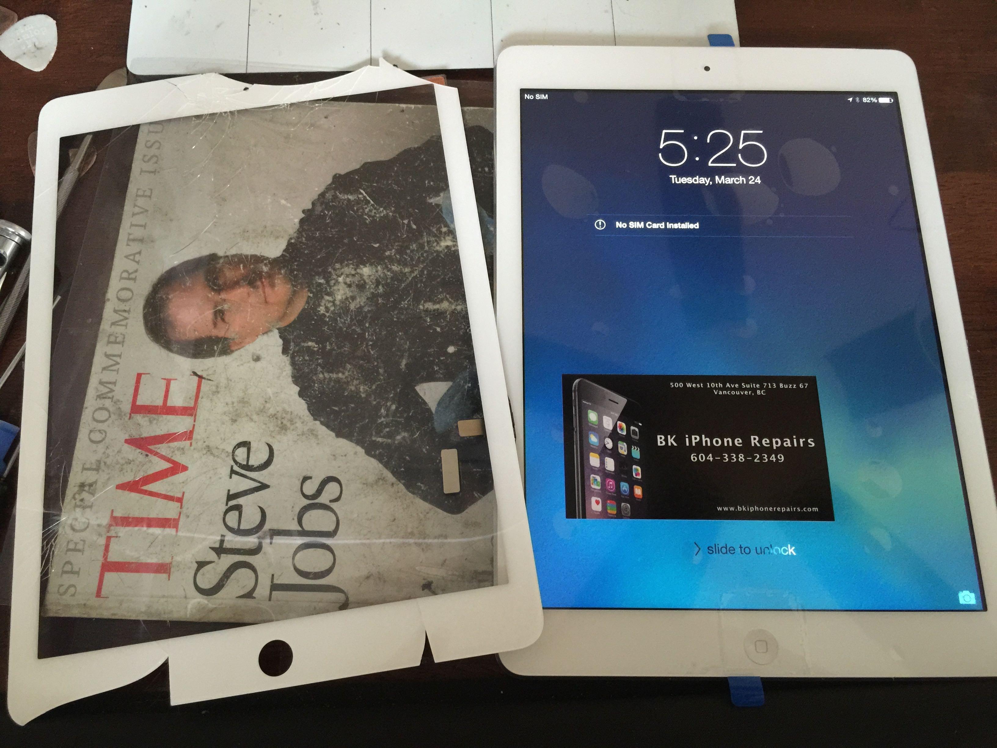 Cracked or Broken iPad